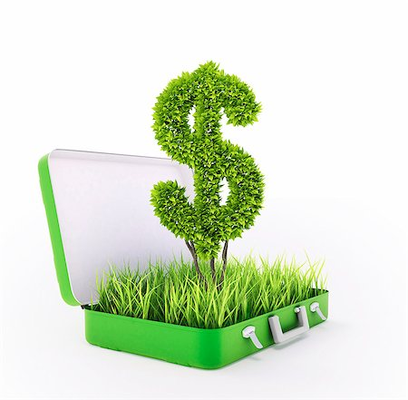 Green investment, conceptual computer artwork. Stock Photo - Premium Royalty-Free, Code: 679-06755966