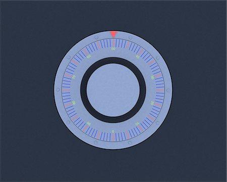 Safe dial, computer artwork. Stock Photo - Premium Royalty-Free, Code: 679-06779439