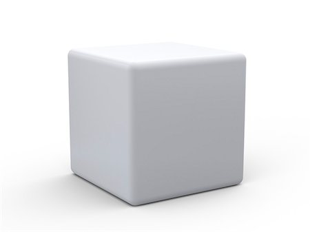 entry field - White cube, computer artwork. Stock Photo - Premium Royalty-Free, Code: 679-06779450