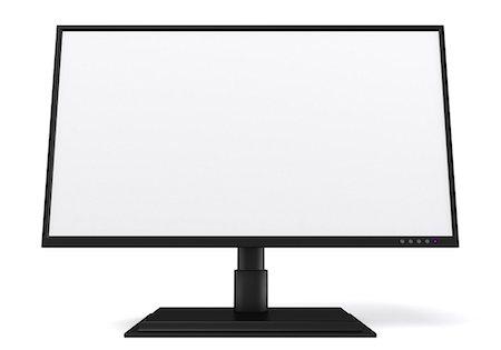 Flat screen LCD monitor, computer artwork. Stock Photo - Premium Royalty-Free, Code: 679-06779465