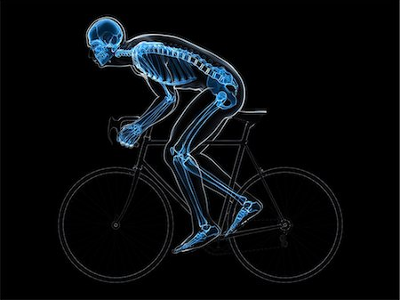 Cyclist, computer artwork. Stock Photo - Premium Royalty-Free, Code: 679-06779678