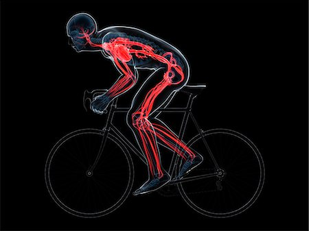 Cyclist, computer artwork. Stock Photo - Premium Royalty-Free, Code: 679-06779680