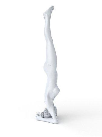 Yoga, computer artwork. Stock Photo - Premium Royalty-Free, Code: 679-06780792