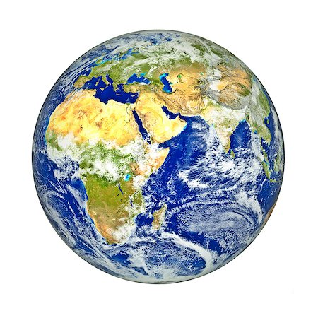 Africa and Asia, computer artwork. Stock Photo - Premium Royalty-Free, Code: 679-06780891