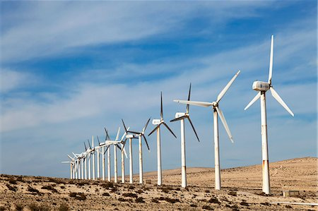 Wind turbines, Costa Calma, Fuerteventura, Canary Islands. Stock Photo - Premium Royalty-Free, Code: 679-06780915
