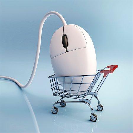 ebusiness - Internet shopping, conceptual computer artwork. Stock Photo - Premium Royalty-Free, Code: 679-06780937