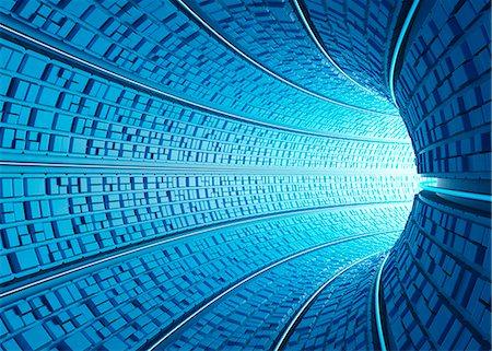 Futuristic tunnel, computer artwork. Stock Photo - Premium Royalty-Free, Code: 679-06780946