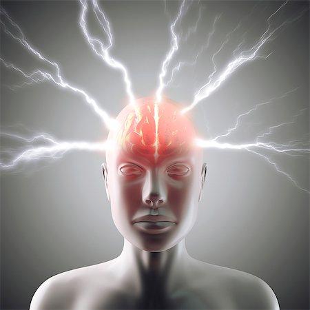 Headache, conceptual computer artwork. Stock Photo - Premium Royalty-Free, Code: 679-06780958