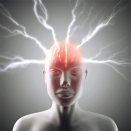 Headache, conceptual computer artwork. Stock Photo - Premium Royalty-Free, Code: 679-06780958