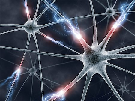 synapse - Neural network, computer artwork. Stock Photo - Premium Royalty-Free, Code: 679-06780981