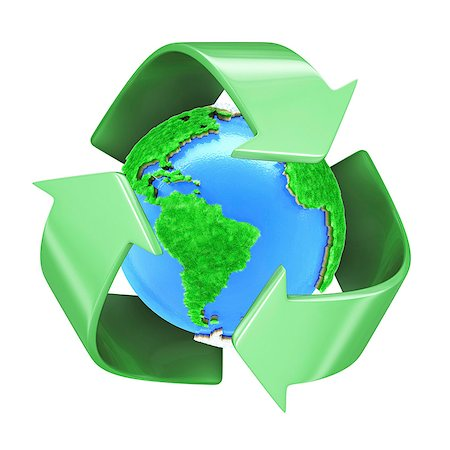 Recycling, conceptual computer artwork. Stock Photo - Premium Royalty-Free, Code: 679-06780995