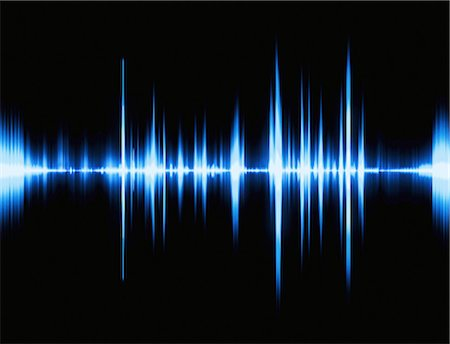 Sound waves, computer artwork. Stock Photo - Premium Royalty-Free, Code: 679-06780999