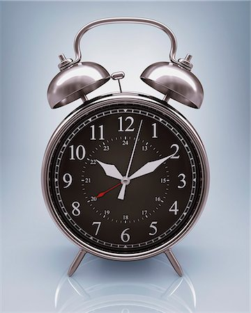 Alarm clock, computer artwork. Stock Photo - Premium Royalty-Free, Code: 679-06780990