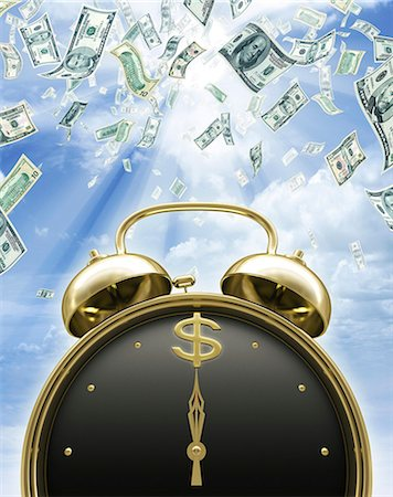 Time is money, conceptual artwork. Stock Photo - Premium Royalty-Free, Code: 679-06781006