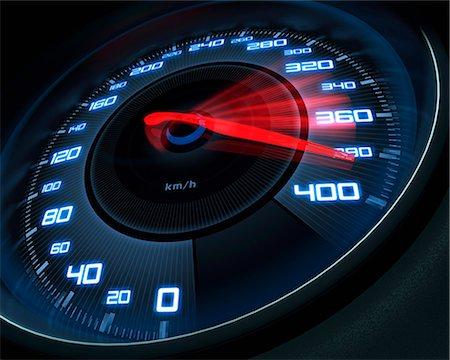Speedometer, computer artwork. Stock Photo - Premium Royalty-Free, Code: 679-06781000