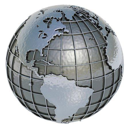 Metal Earth, computer artwork. Stock Photo - Premium Royalty-Free, Code: 679-06781016