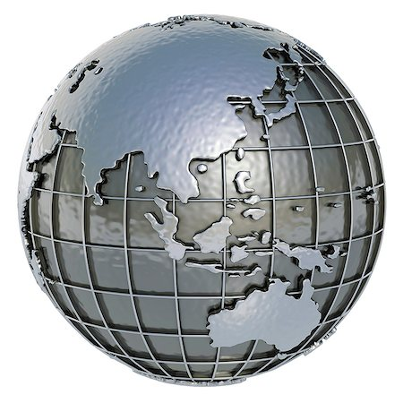 Metal Earth, computer artwork. Stock Photo - Premium Royalty-Free, Code: 679-06781017