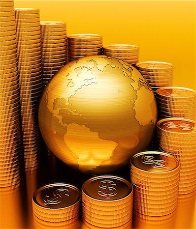 Global economy, conceptual computer artwork. Stock Photo - Premium Royalty-Free, Code: 679-06781057