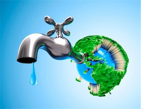 Global water shortage, conceptual computer artwork Stock Photo - Premium Royalty-Free, Code: 679-06781052