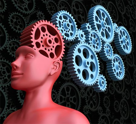 Intelligence, conceptual computer artwork. Stock Photo - Premium Royalty-Free, Code: 679-06781066