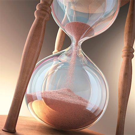 Hourglass, computer artwork. Stock Photo - Premium Royalty-Free, Code: 679-06781076