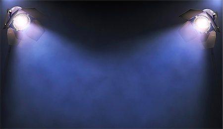spotted - Spotlights, computer artwork. Stock Photo - Premium Royalty-Free, Code: 679-06781099