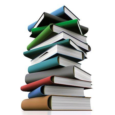education concept - Books, computer artwork. Stock Photo - Premium Royalty-Free, Code: 679-06781090