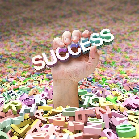 Success, computer artwork. Stock Photo - Premium Royalty-Free, Code: 679-06781101