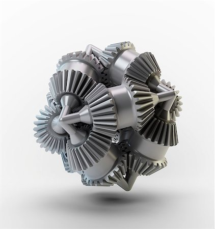 Gear wheels, computer artwork. Stock Photo - Premium Royalty-Free, Code: 679-06781178