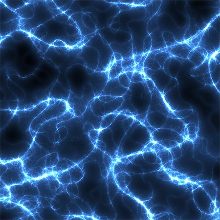 Computer artwork of electrical sparks, depicting electrical energy. Stock Photo - Premium Royalty-Free, Code: 679-06781319