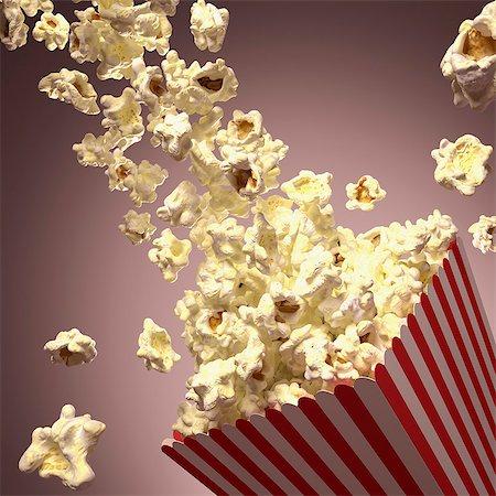 entry field - Popcorn, computer artwork. Stock Photo - Premium Royalty-Free, Code: 679-07151338