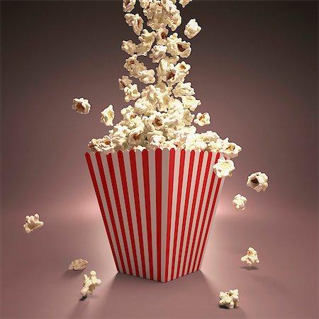 entry field - Popcorn, computer artwork. Stock Photo - Premium Royalty-Free, Code: 679-07151339
