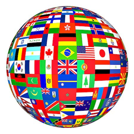 World flags, computer artwork. Stock Photo - Premium Royalty-Free, Code: 679-07151330