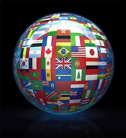 World flags, computer artwork. Stock Photo - Premium Royalty-Free, Code: 679-07151331