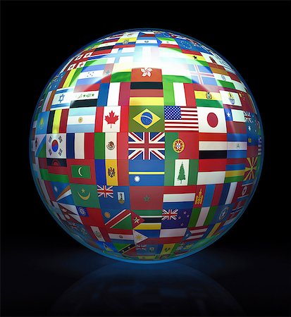 World flags, computer artwork. Stock Photo - Premium Royalty-Free, Code: 679-07151331