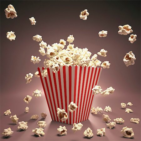 entry field - Popcorn, computer artwork. Stock Photo - Premium Royalty-Free, Code: 679-07151340