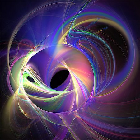 string - Superstrings, conceptual computer artwork. The superstring theory is a Theory of Everything (Grand Unification Theory), which seeks to unite gravitational force with the other fundamental forces (electromagnetism and nuclear forces) that are already described by quantum mechanics at the atomic level. The theory states that fundamental particles such as quarks and electrons are not points of energy Stock Photo - Premium Royalty-Free, Code: 679-07151463