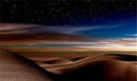 sky stars - Desert at night. Stock Photo - Premium Royalty-Free, Code: 679-07151499