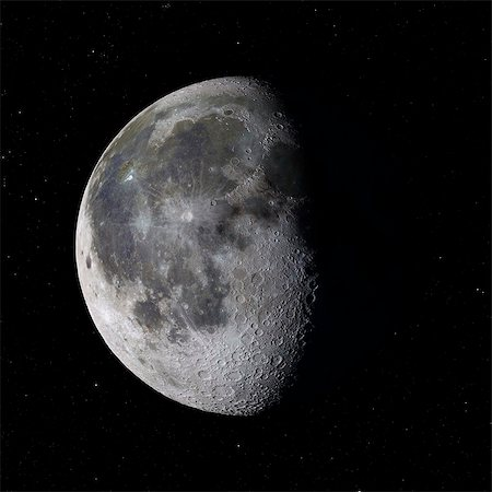 Moon, computer artwork. Stock Photo - Premium Royalty-Free, Code: 679-07604240