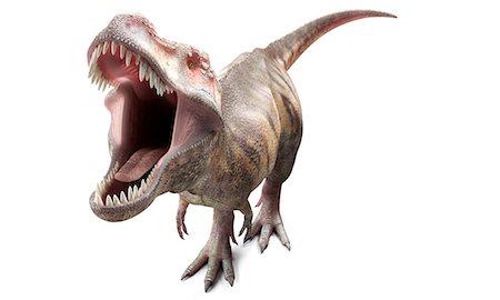 prehistoric - T-Rex, computer artwork. Stock Photo - Premium Royalty-Free, Code: 679-07604491