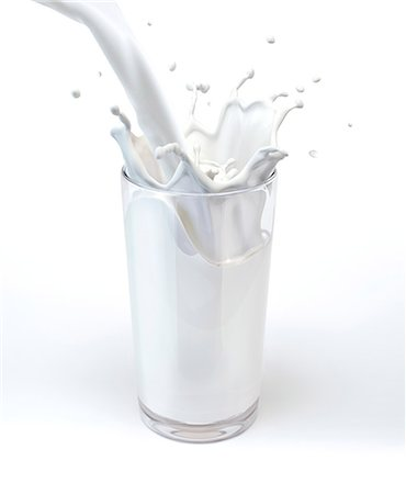 pouring - Glass of milk, computer artwork. Stock Photo - Premium Royalty-Free, Code: 679-07604875