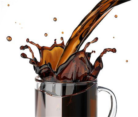 Pouring coffee, computer artwork. Stock Photo - Premium Royalty-Free, Code: 679-07604886