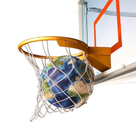 Basketball globe, artwork. Stock Photo - Premium Royalty-Free, Code: 679-07607725