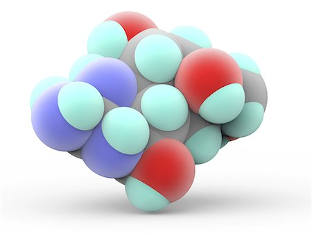 poison - Tetrodotoxin (TTX), molecular model. Potent neurotoxin without antidote occurring in several marine species, among them the pufferfish. Atoms are represented as spheres and are colour-coded: carbon (grey), hydrogen (green), nitrogen (blue) and oxygen (red). Stock Photo - Premium Royalty-Free, Code: 679-07607883
