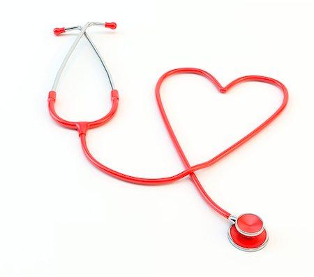 Stethoscope in the shape of heart, studio shot. Stock Photo - Premium Royalty-Free, Code: 679-07607991