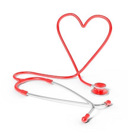 Stethoscope in the shape of heart, studio shot. Stock Photo - Premium Royalty-Free, Code: 679-07607992