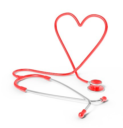 shape - Stethoscope in the shape of heart, studio shot. Stock Photo - Premium Royalty-Free, Code: 679-07607992