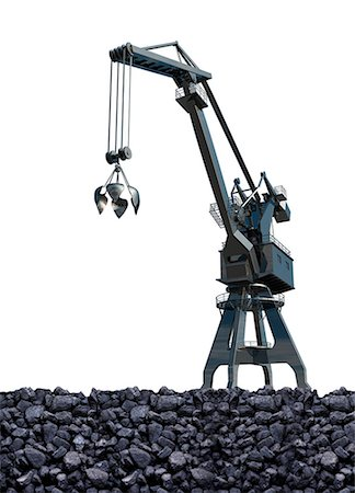 Artwork of coal mining. Stock Photo - Premium Royalty-Free, Code: 679-07608168