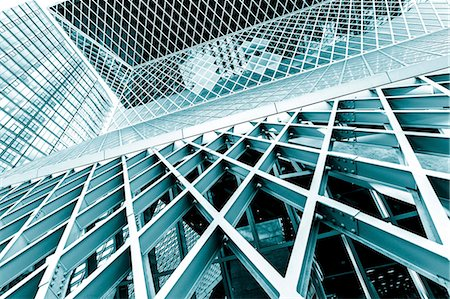 Glass and steel building, abstract. Stockbilder - Premium RF Lizenzfrei, Bildnummer: 679-07608213