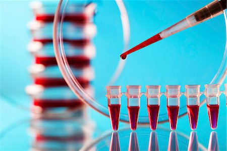 dripping blood - Pipette and microtubes used for blood testing. Stock Photo - Premium Royalty-Free, Code: 679-07608224